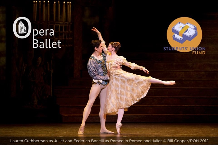 *Sold Out* £3.99 LSESU Opera Ballet trip to the Royal Ballet, Royal Opera House to see Romeo and Juliet.
