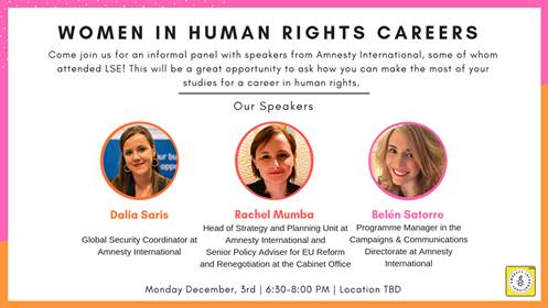 Careers at Amnesty International Panel