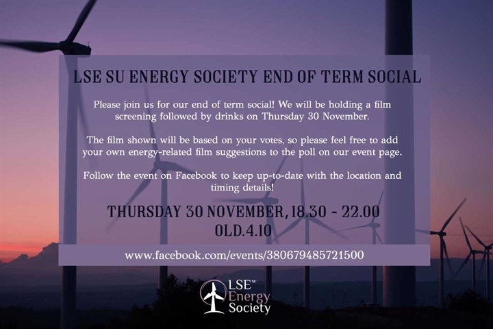 Energy Society - 'End of Term Social'