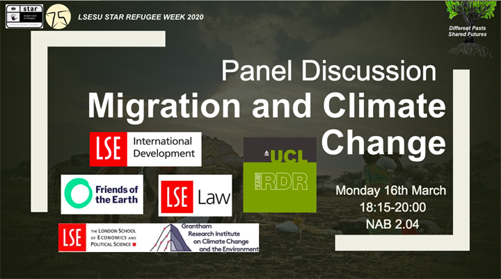 Panel Discussion - Climate Change and Migration (STAR Refugee Week 2020)