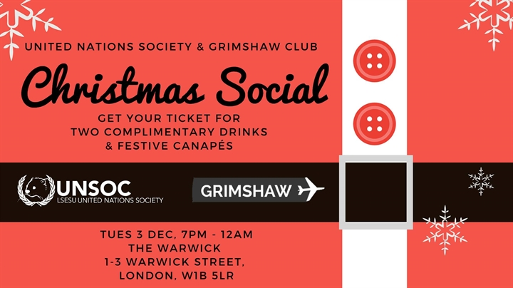 UN Society and Grimshaw Christmas Social