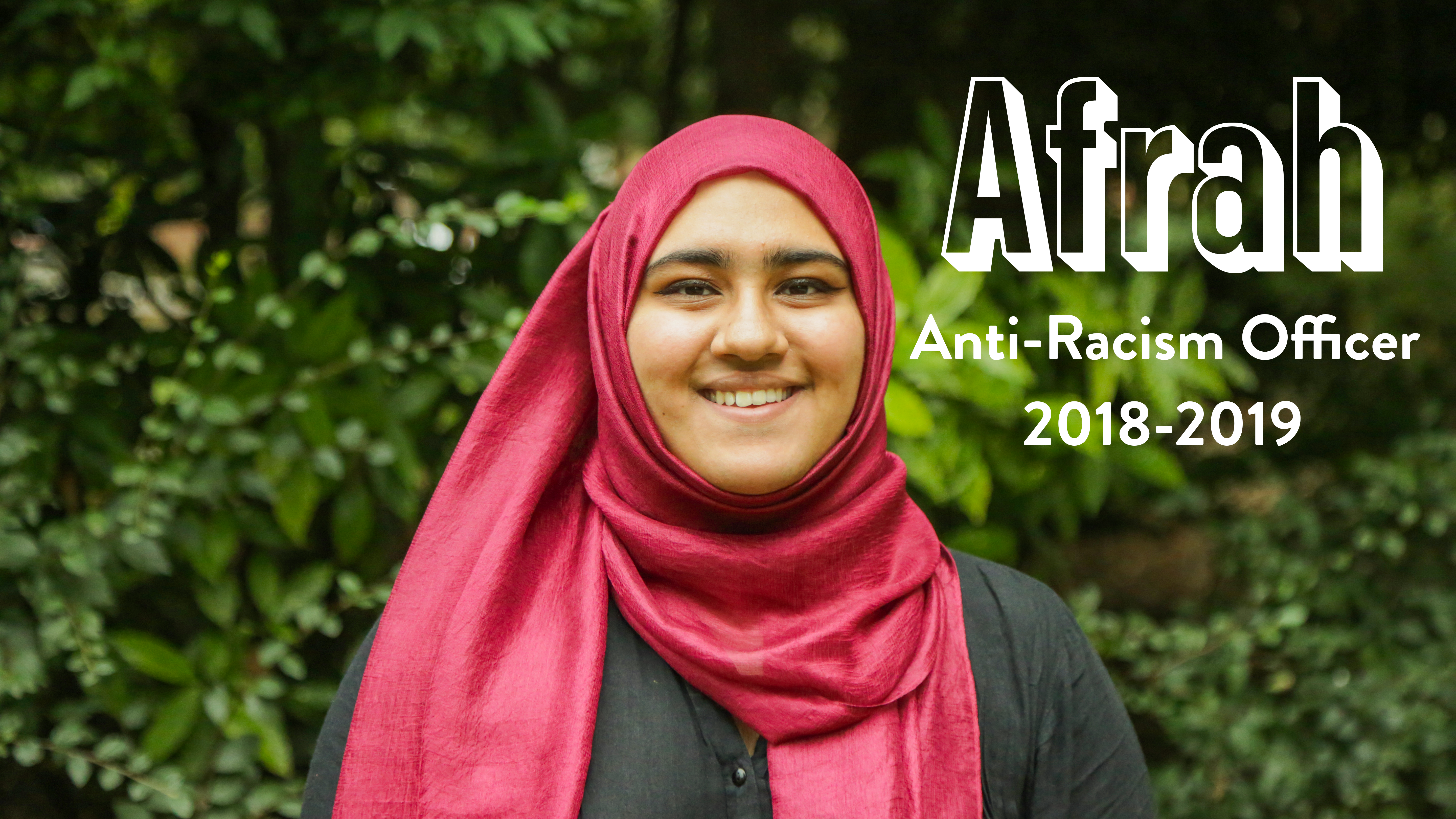 Afrah - Anti Racism Officer